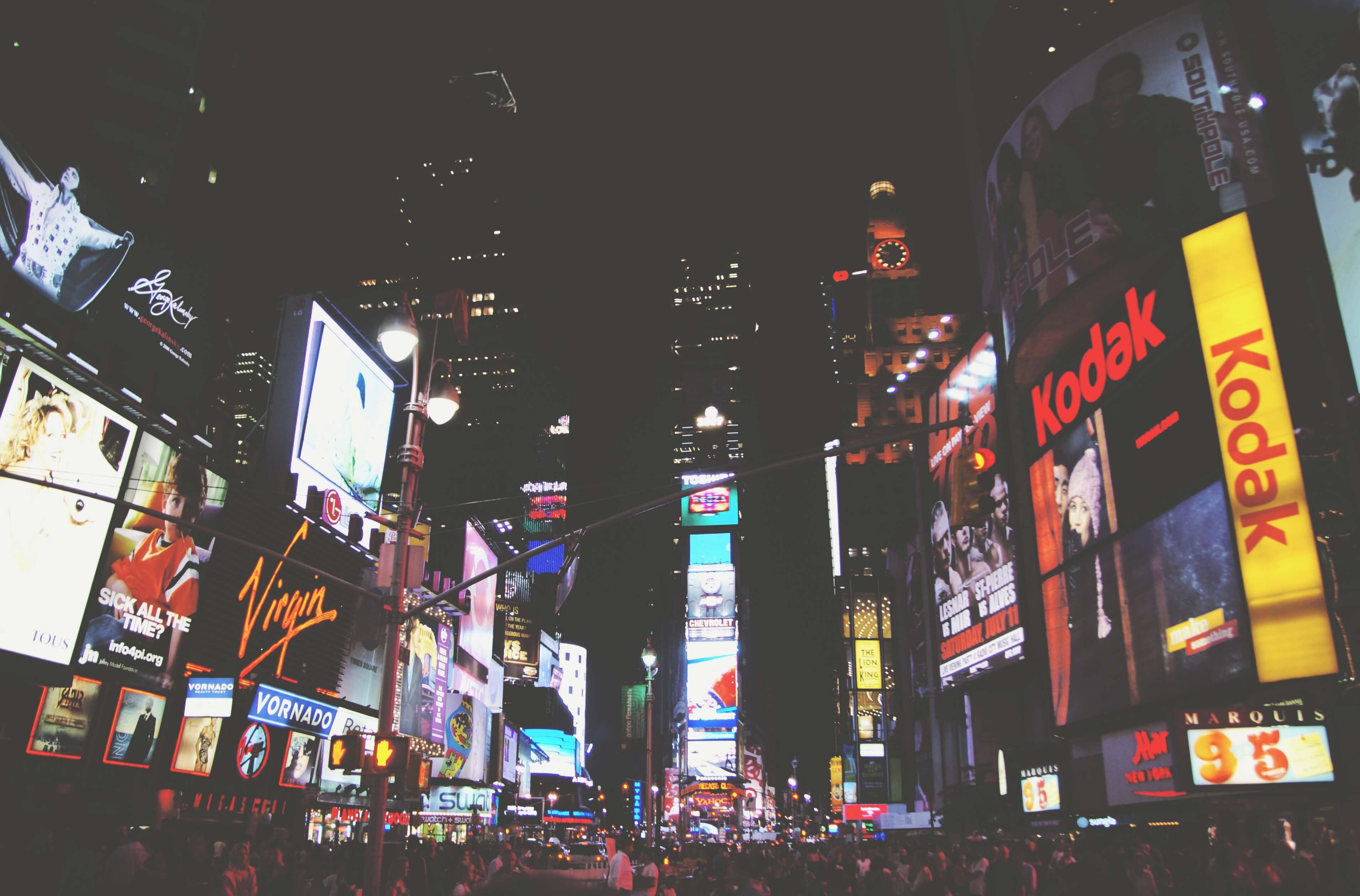 Werbung auf dem Time Square New York