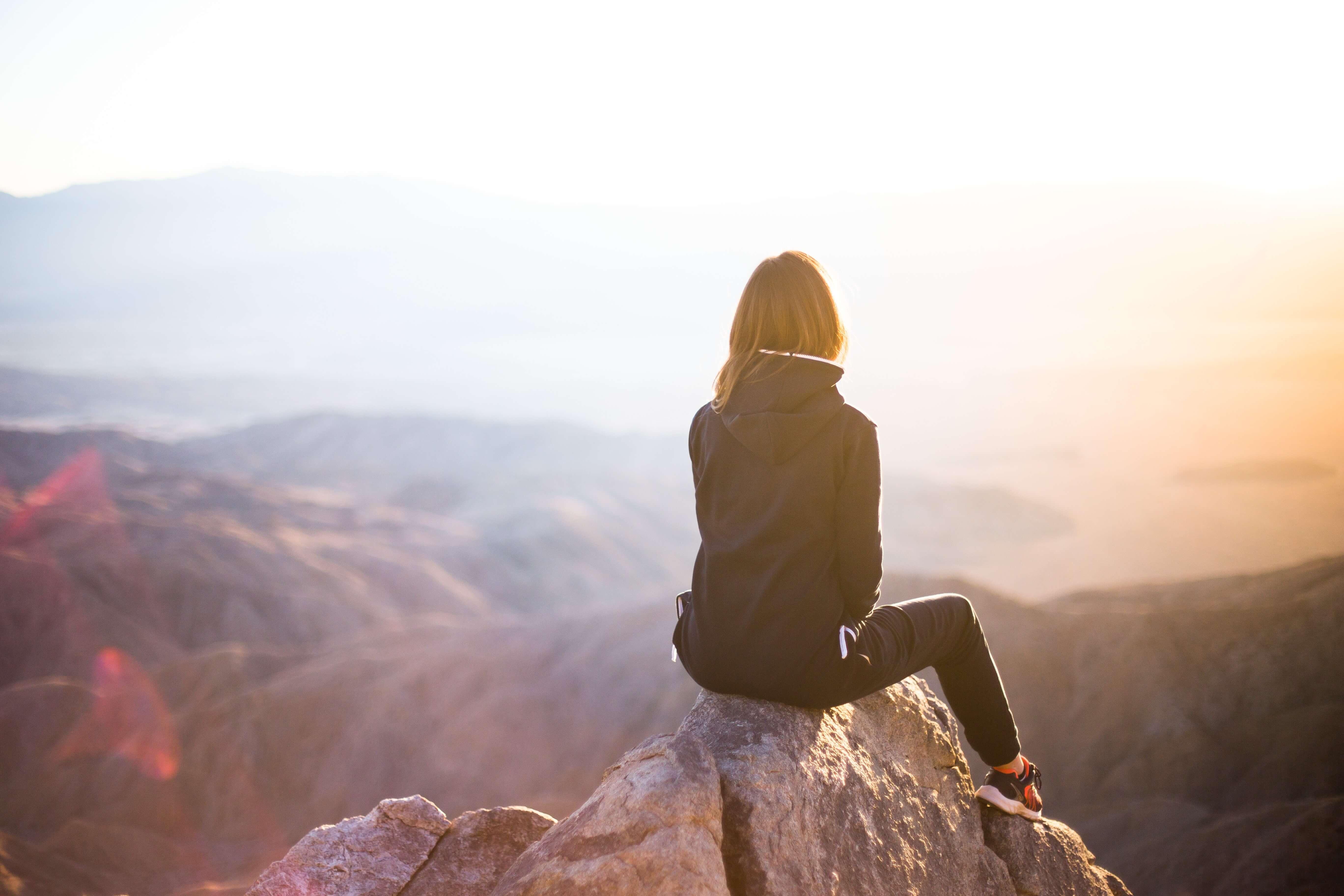 Wandern Berge Ausblick