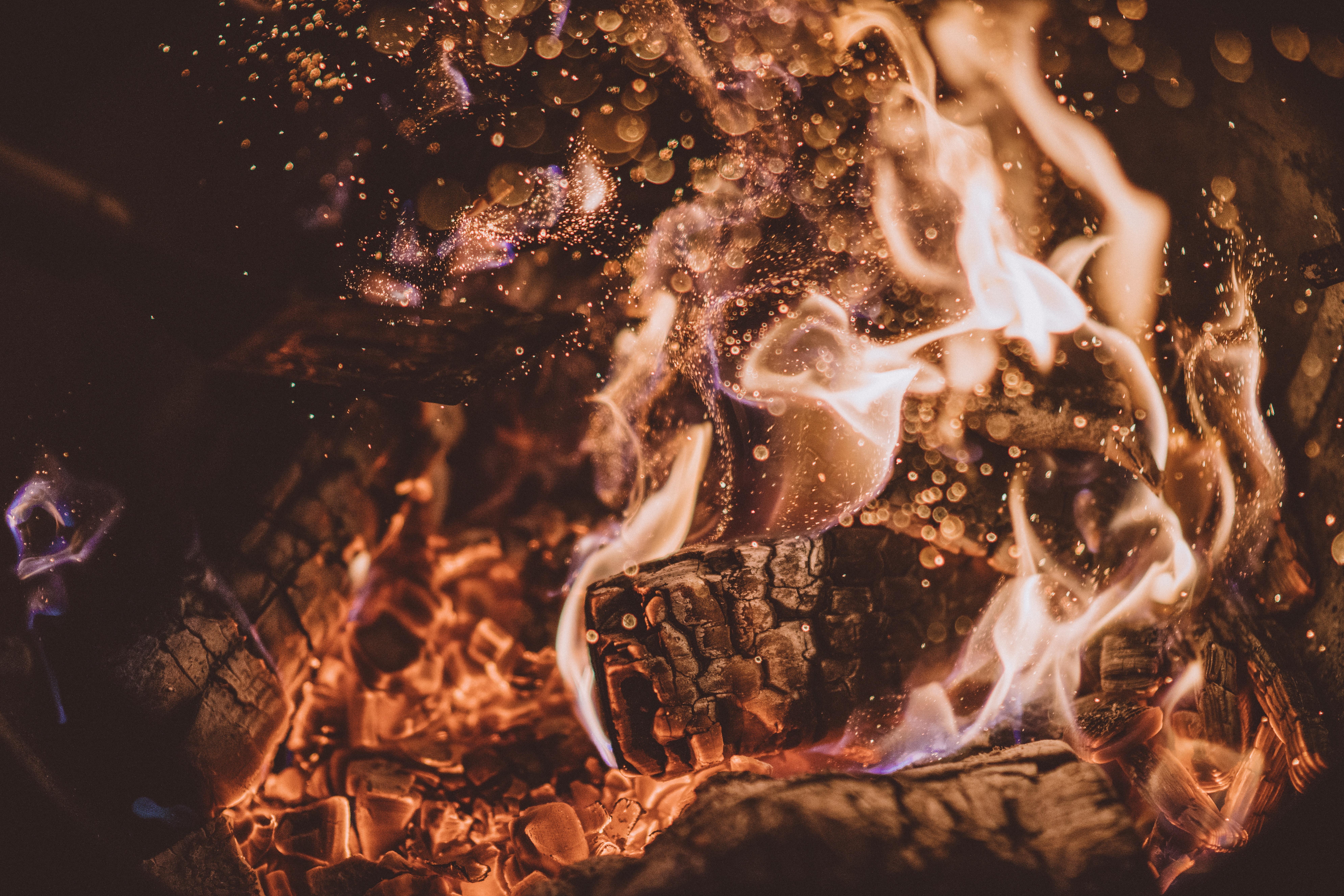 Nahaufname Feuer