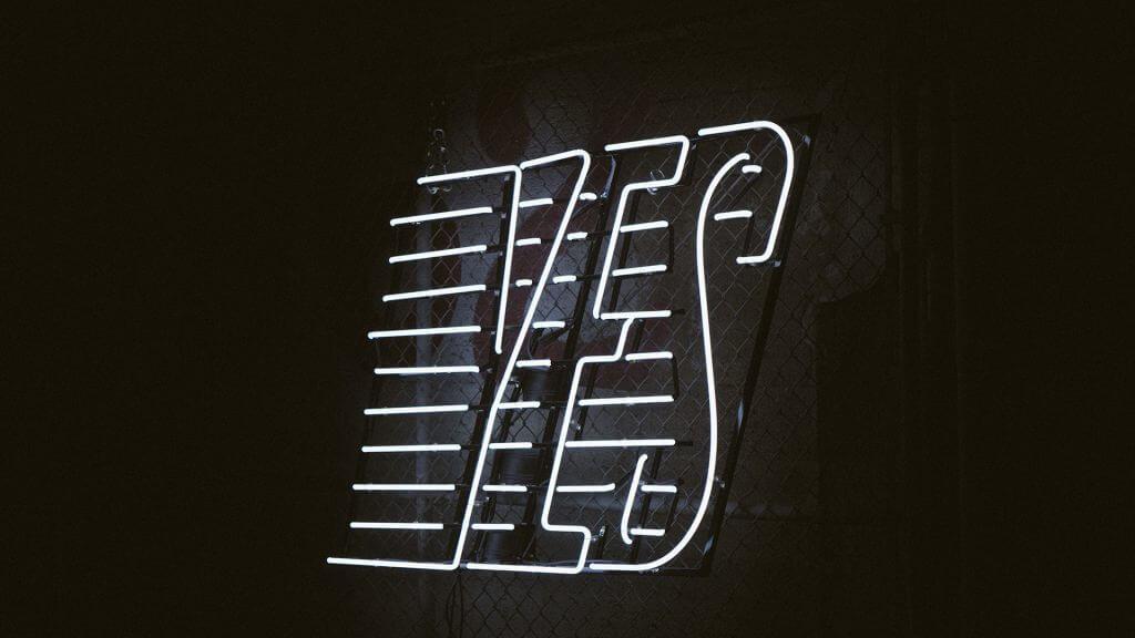 Ja / Yes Neon Lichter