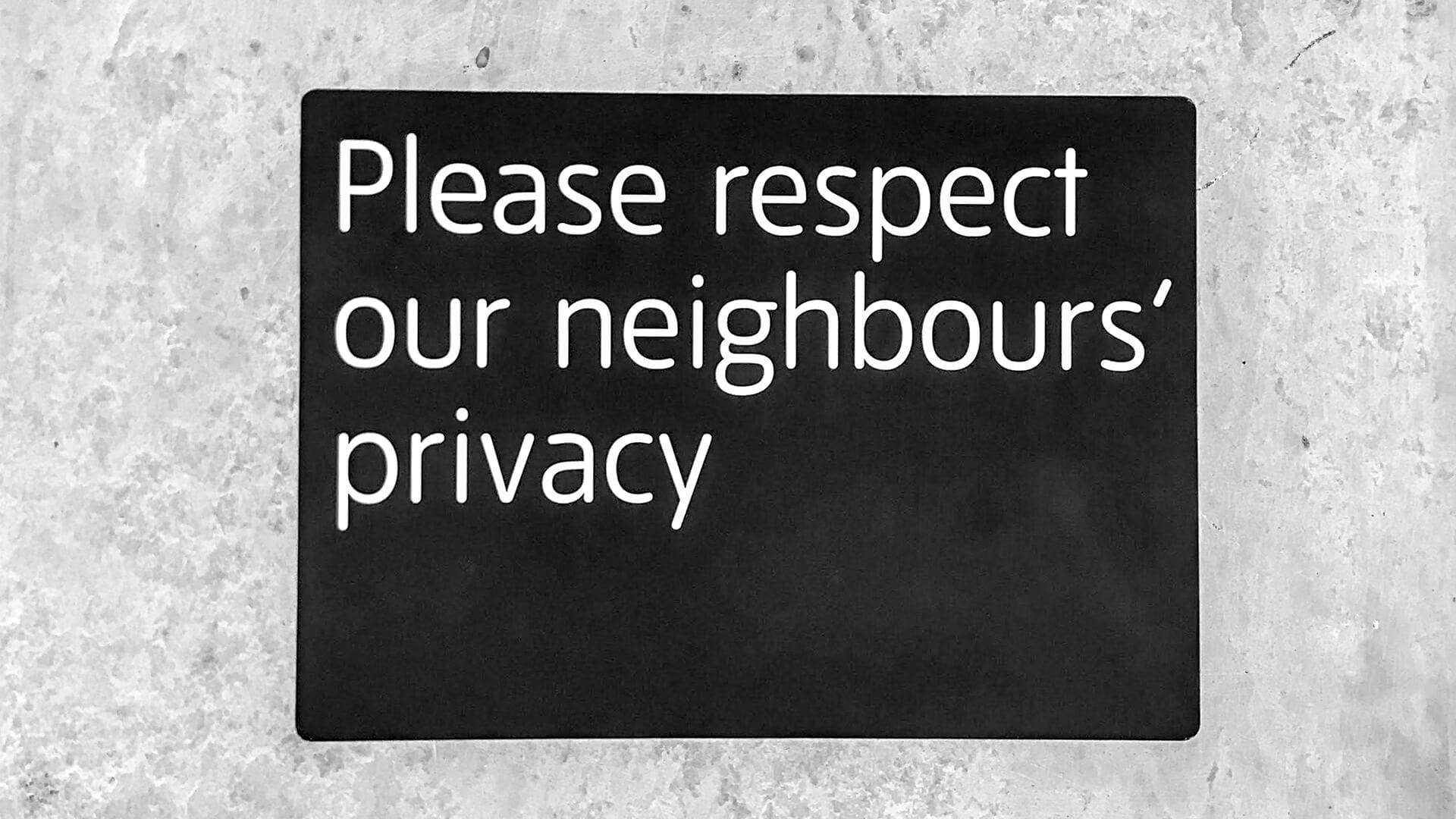 Rücksicht auf Privatsphäre