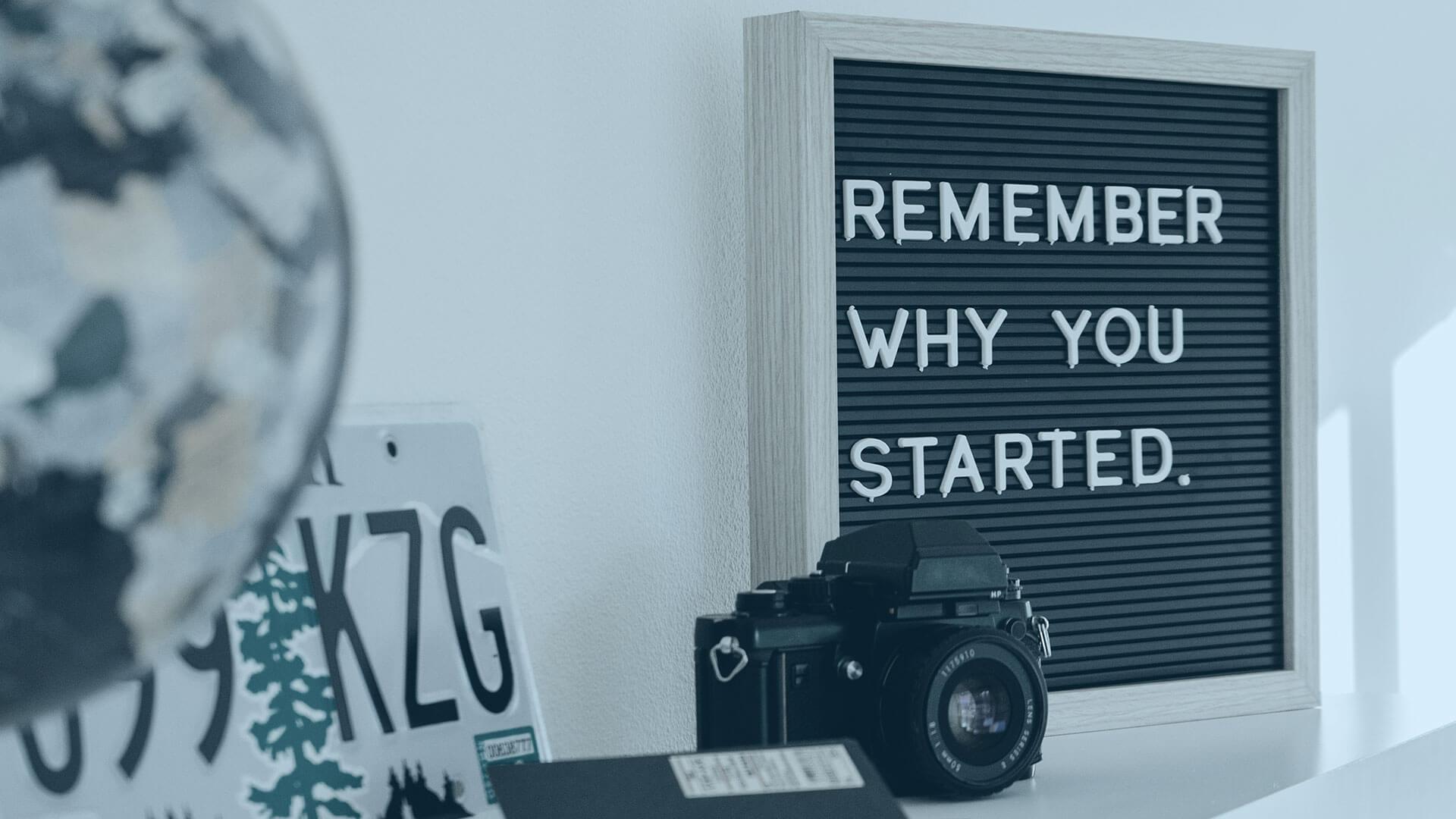 Motivation: Warum der Anfang?