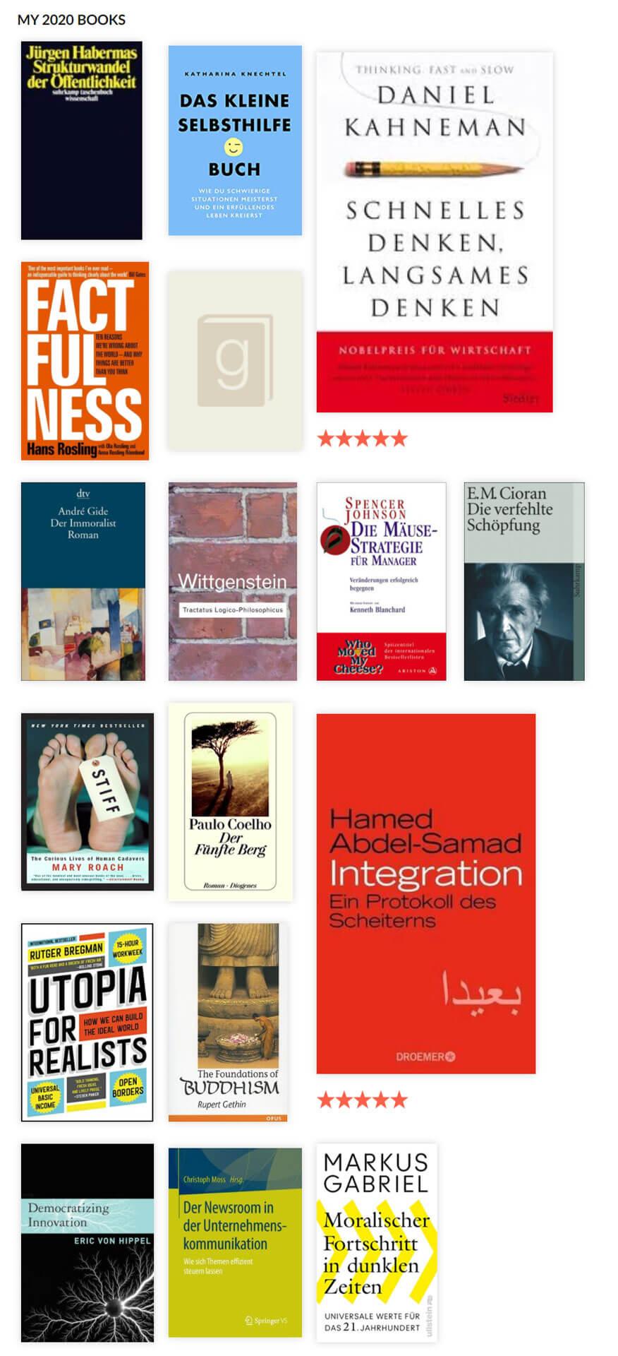 Gelesene Bücher 2020